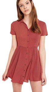 Kimchi Blue short dress Red Feminine Grungy Playful on Tradesy