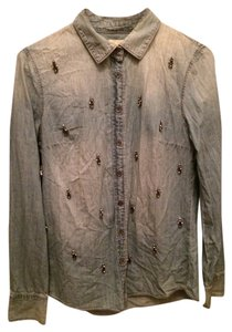 J.Crew Button Down Shirt Embellished chambray