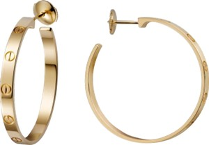 Cartier Cartier 18K Yellow Gold Love Earrings B8028200