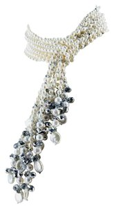 Pearls and Crystal Multi-strand Necklace