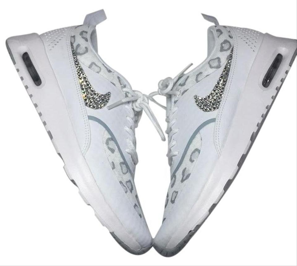 low priced fe189 e93d4 Nike White Cheetah Leopard Print Air Max Thea Sneakers Size US 10.5 Regular  (M, B) 39% off retail