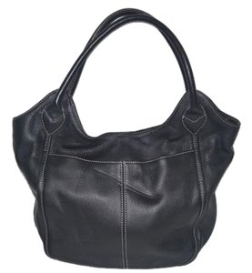 Tignanello Leather Hobo Tote in Black