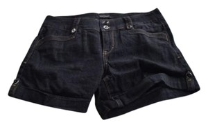 White House | Black Market Whbm Cuffed Shorts Dark wash Denim