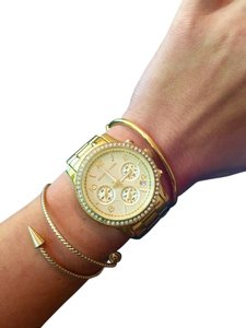 Michael Kors Micheal Kors MK5130 Watch in Gold with Rhinestones