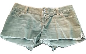 Abercrombie & Fitch Cut Off Shorts Light Green