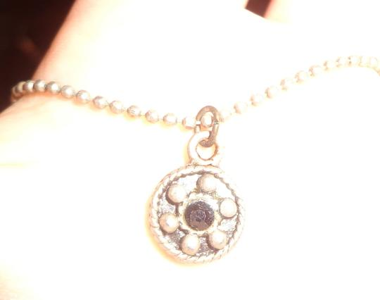 Vintage Estate Jewelry Vintage Estate Jewelry: Ball Chain Necklace With Round Gothic Style Pendant Image 2