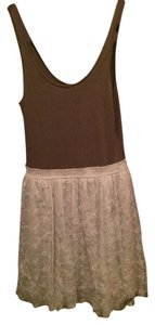 Abercrombie & Fitch short dress Grey with silver chiffon skirt on Tradesy