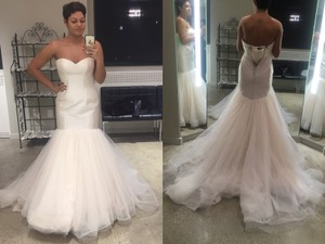Justin Alexander Style: 8851 Silk Dupion And Tulle Fit And Flare Bridal Gown Wedding Dress