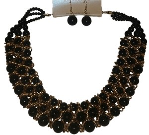 Other Black and Gold Statement Necklace