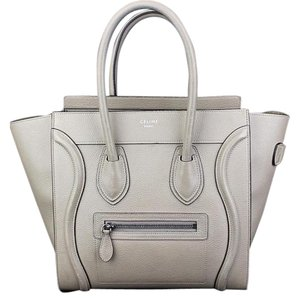 Céline Celine Luggage Tote in Beige Cream