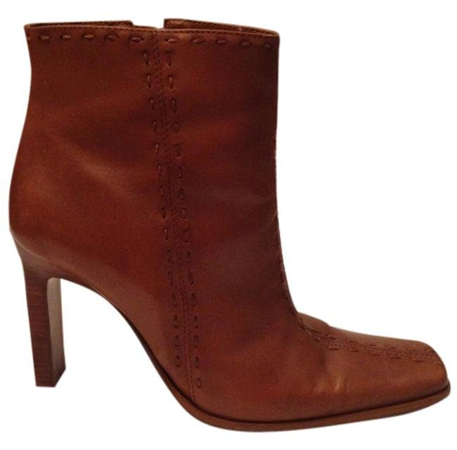 Item - Cognac Leather Ankle Boots/Booties Size US 8 Regular (M, B)