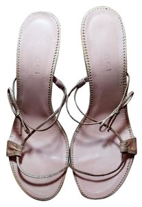 Gucci Lizard Pink Sandals
