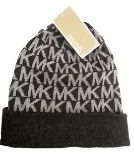 Michael Kors MICHAEL KORS HAT 100% Authentic * MK Logo knit Hat in Gray Brand new with tag