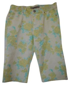Liverpool Jeans Company Capris Yellow flora
