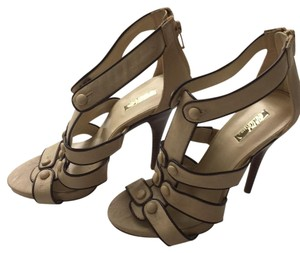 Wild Pair Stiletto Platform Night Out Beige/Brown Platforms