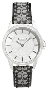 Coach Coach Classic Signature Black Leather Watch 14501524