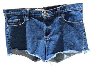 American Apparel Cut Off Shorts Medium Blue Denim