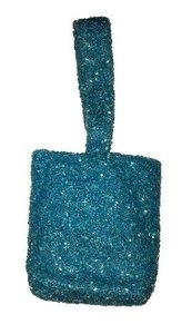Moyna Wristlet in Light Blue Beaded