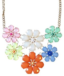 Eye Candy Los Angeles GOLD FLOWER STATEMENT NECKLACE NORDSTROM