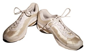 Ryka Beige Satin and White Athletic
