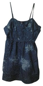 Dots short dress Denim on Tradesy