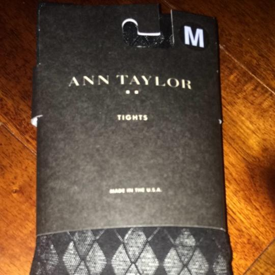 Ann Taylor Black Argyle Tights