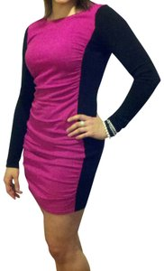 Express short dress Magenta/black on Tradesy