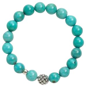 Lagos Lagos Teal Bead Stretch Bracelet - Turquoise New With Tags