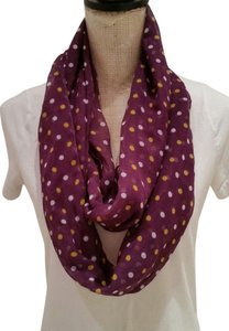 Purple infinity scarf.
