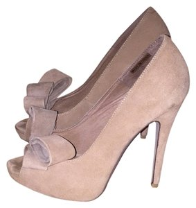 Jeffrey Campbell Nude Suede Pumps