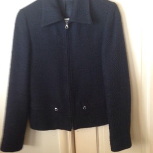 United Colors of Benetton Italian Zip-up Wool Black Jacket