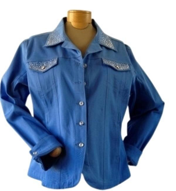 Preload https://item2.tradesy.com/images/christine-alexander-sky-blue-matching-tank-with-rhinestones-and-studs-denim-jacket-size-14-l-15531-0-0.jpg?width=400&height=650