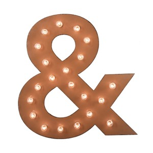 Ampersand Marquee Sign