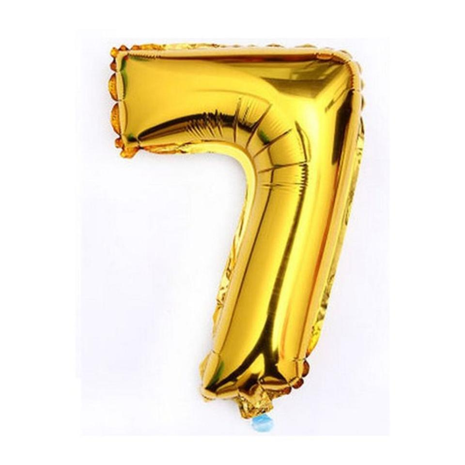 gold 40 giant 7 one mylar number letter balloons birthday big balloon party table centerpiece