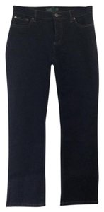 Ralph Lauren Denim Dark Petite Straight Leg Jeans-Dark Rinse