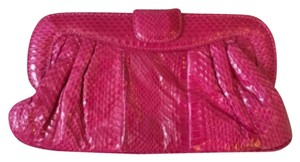 Saks Fifth Avenue New Snakeskin Party RED Clutch