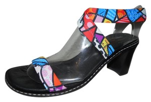 Donald J. Pliner Leather Sole multi color Sandals
