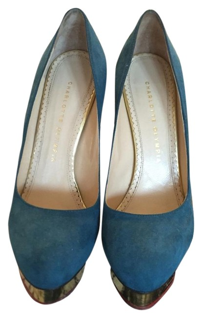 Charlotte Olympia Teal Pump Platforms Size US 8.5 Regular (M, B) Charlotte Olympia Teal Pump Platforms Size US 8.5 Regular (M, B) Image 1
