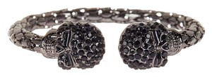 Eye Candy Los Angeles Eye Candy Los Angeles Skull My Wrist Cuff New Dark Silver