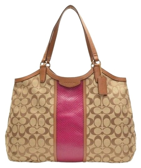 Coach Snakeskin Saddle Tote Shoulder Bag