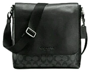 Coach Cross Charles Signature Sullivan Black and smoke grey Messenger Bag