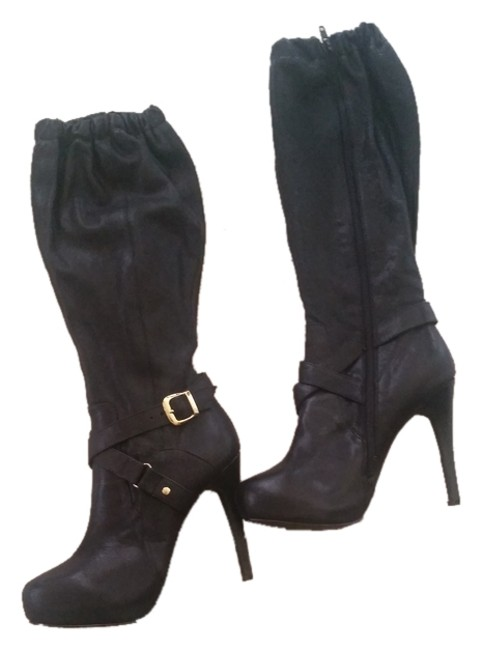 Item - Black New Genuine Leather Platform Boots/Booties Size US 9.5 Regular (M, B)