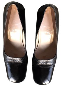 Chanel Square Toe Formal Pump Black Pumps