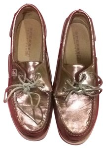 Sperry Metallic Boat Summer Light Pink Flats