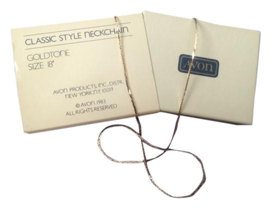"Avon Vintage Fashion Jewelry by Avon Classic Style Neckchain Necklace Goldtone Size 18"" Fine New in Box"