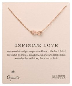 Dogeared Dogeared Infinite Love Rose Gold Necklace