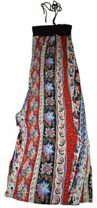 Black, White, Red, Blue Maxi Dress by Forever 21