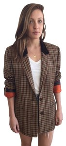 Herms Hermes Plaid Blazer