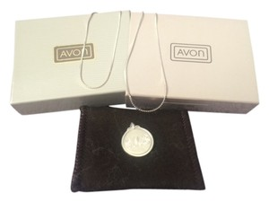 Avon Vintage Avon Sterling Silver Monogram Necklace & Pendant D.M.B. New in Box