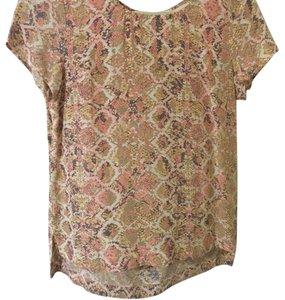 Anthropologie Top Pink/Yellow/Multi